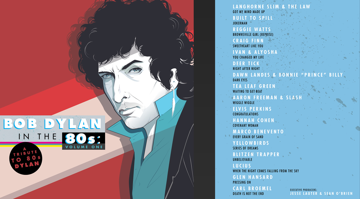 80s Dylan Album Cover and Track Listing